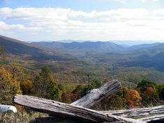 Fall is coming!  A fall view from Big Walker Lookout in Wytheville, VA