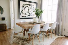 Organic modern dining area design | Akin Design Studio