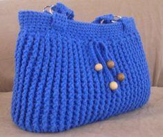 Crochet blue spring summer shoulder bag, summer fashion shoulder bag, beaded bag, summer purse, bag 2012. $45.00, via Etsy.