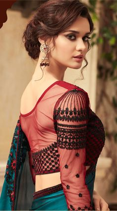 Blouse Designs: Blouse designs imagesAre you searching for the best blouse design images to get beautiful ideas that how to make different designs?So here we have tons of collections of blouse designs different types of patterns and. Best Blouse Designs, Saree Blouse Designs, Beautiful Girl Indian, Beautiful Saree, Beautiful Women, Indian Beauty Saree, Indian Sarees, Ethnic Sarees, Party Wear Sarees