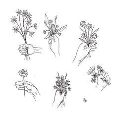 "laurasupnik: "" fleurs pen and ink """