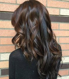 Long Curly Brunette Hairstyle