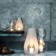 Design with Light Laterne mit Lederhenkel Holmegaard