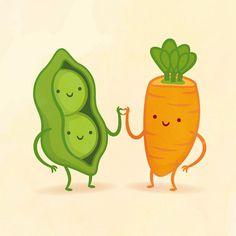 """Ilustraciones de """"Parejas Perfectas"""" de Alimentos a los que Nuestras Papilas Gustativas Jamás se Resistirán   FuriaMag   Arts Magazine"""