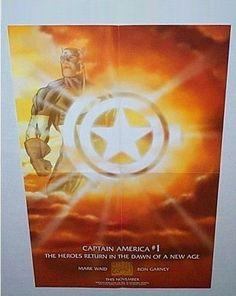 Rare 1997 Marvel Comics Universe 18 by 12 Captain America 1 promo poster: 1990's