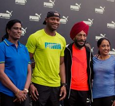 #PUMA Hosts the Sub-10 King - #AsafaPowell Along with PT Usha, Milkha Singh and Many More Indian Athletes at the JLN Stadium, New Delhi