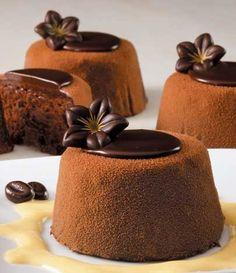 Dense chocolate cake made with dark Colombian chocolate
