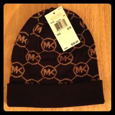 Michael Kors Signature Hat Michael Kors Signature Webbing Hat. Brown and Tan. Very Soft. Michael Kors Accessories Hats