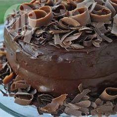 Pastel de chocolate decadente @ allrecipes.com.mx
