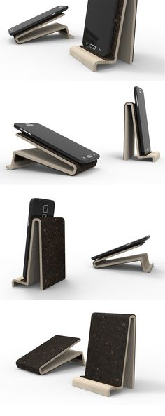 Epic smartphone cork and wood holder for Samsung galaxy S and BQ aquaris uac