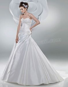 Sweetheart Directionally Ruched Bodice Mermaid Wedding Dress