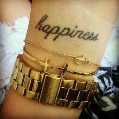 Happiness wrist tattoo, love it!