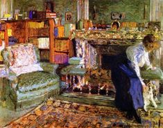 Edouard Vuillard, Marguerite Chapin in her Apartment with her Dog
