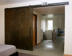 industrial metal sliding door