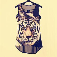 Women-Sexy-Tiger-Print-Vest-Casual-Leopard-Chiffon-Patchwork-T-Shirts-Tops-S-M-L