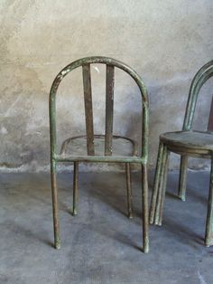 4 CHAISES METAL ROBERT MALLET STEVENS 1932 ART DECO MODERNISTE édition TUBOR