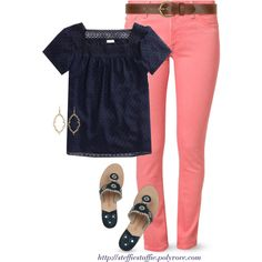 Coral & Navy by steffiestaffie on Polyvore featuring polyvore, fashion, style, J.Crew, DL1961 Premium Denim, Jack Rogers, Dorothy Perkins and happybirthdaycathleen