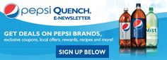 FREE Pepsi Quench e-Newsletter – Exclusive Coupons from Pepsi! http://becomeacouponqueen.com