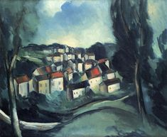 The Beautiful Village by Maurice de Vlaminck, 1911 Read the article here: http://www.galleryintell.com/artex/restaurant-de-la-machine-bougival-maurice-de-vlaminck/