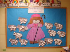 preschool bullentin board ideas | We are learning nursery rhymes and having fun. We learned about Mary ...