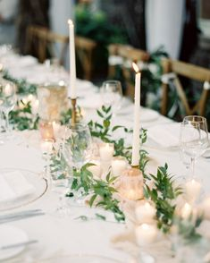 Stunning industrial wedding ideas with modern style wedding table table garland and candles romantic and organic blush real wedding centerpiece junglespirit Image collections