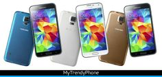 Samsung Galaxy S5 è disponibile in vari colori: Charcoal Black, Shimmery White, Electric Blue en Copper Gold.