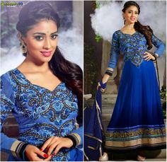 Buy Online Navy Blue #AnarkaliSuit at discounts of up to 10%. Now Get Extra Discount On Online Payments. Shop Now:- http://www.shoppers99.com/karishma_kapoor_anarkali_suits/navy_blue_anarkali_suit_t-536-1243