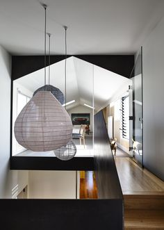 Garth House is a project recently completed by OLA Architecture Studio. Located in Northcote, Garth was once a dilapidated nineteenth . Louvre Windows, Houses In Austin, Interior Architecture, Interior Design, Interior Ideas, Room Additions, Japanese Design, Detached House, Semi Detached