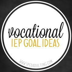 BLOG: Life Skills IEP goal ideas in the area of vocation for special education. Life Skills Classroom, Life Skills Activities, Teaching Life Skills, Special Education Classroom, Teaching Tools, Autism Classroom, Classroom Ideas, Future Classroom, Teacher Resources
