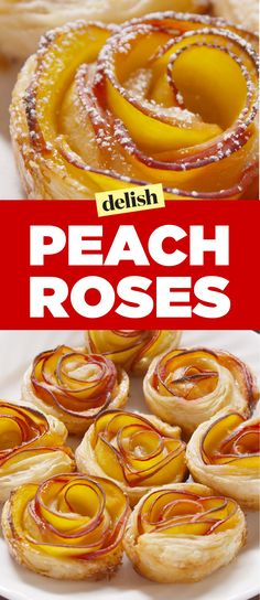 Will You Accept This Peach Rose? Will You Accept This Peach Rose? Peach Puff Pastry, Puff Pastry Desserts, Puff Pastry Recipes, Köstliche Desserts, Delicious Desserts, Yummy Food, Puff Pastry Tarts, Apple Rose Pastry, Puff Pastries