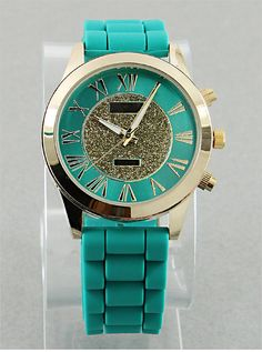 Golden Teal Watch from P.S. I Love You More. Shop online at: https://psiloveyoumore.storenvy.com