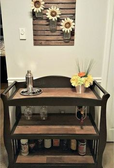 changing table to bar cart, painted furniture, repurposing upcycling
