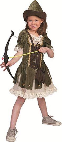 Robin Hood Mädchen Kostüm Gr. 164 - Tolle Verkleidung für Fasching Film Party und Theater