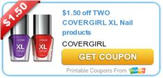 $1.50 off TWO COVERGIRL XL Nail products