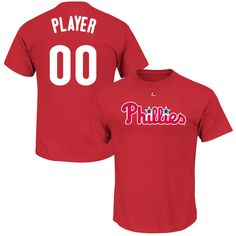 Philadelphia Phillies Majestic Youth Custom Roster Name & Number T-Shirt - Red - $27.99