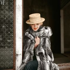 This image, taken on Sunday, April 15, 1956, by famed fashion and celebrity photographer Milton H. Greene, was shot on the set of Bus Stop. Greene, who would become the actress's official photographer, eventually started a production company with the star.