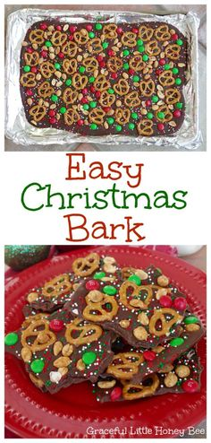 See how to make this Easy Christmas Bark to enjoy or give as a gift! This Easy Christmas Bark recipe is incredibly simple to put together and makes a great holiday treat or gift to give to any neighbor or friend! Christmas Bark, Christmas Party Food, Xmas Food, Christmas Sweets, Christmas Cooking, Holiday Recipes, Christmas Deserts Easy, Easy Christmas Cookies, Cookies