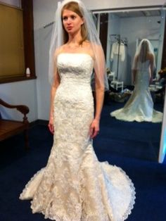Lace Detail Wedding Gown