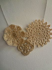 Little Treasures: Vintage Doily Necklace - Last Minute gifts