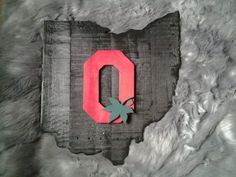Ohio state with block O Ohio State Buckeyes by madeitohio on Etsy Show your support for The Ohio State Buckeyes with this custom made State of Ohio with Ohio State Decor, Ohio State Wreath, Ohio State Crafts, Ohio State Football, Ohio State University, Ohio State Buckeyes, Ohio State Rooms, American Football, Wooden Welcome Signs