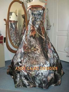 Beautiful all camo wedding dress