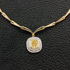 Yellow Diamond Necklace