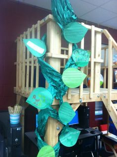 Jack and the Beanstalk, decoration idea for summer reading program 2013, Dig Into Reading