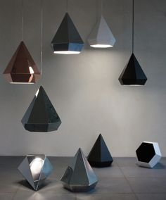 diamond lamps, by Sebastian Scherer