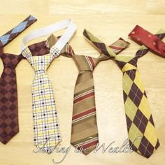 "How to make a kids necktie - for when Lex wants to have a ""hamsome day"""
