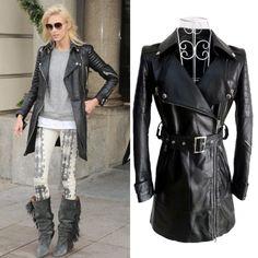 Paris fashion, top, sheep skin genuine leather, women motorcycle jacket , long sections Slim coat.