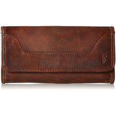 Frye Melissa Phone Wallet (215 AUD) ❤ liked on Polyvore featuring bags, wallets, brown bag, frye bags, brown wallet, frye and frye wallet