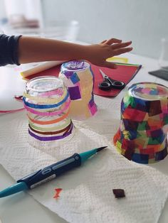 Make colorful lanterns yourself from old glasses (upcycling) Source by Diy Kids Furniture, Diy For Kids, Fathers Day, Lanterns, Upcycle, Diy And Crafts, Kindergarten, How To Make, Color