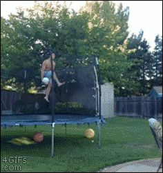 Gif ...Basketball Pool Trick Shot- COOL