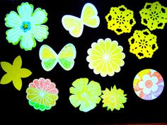 Yellow Embellishments Flower Butterfly pack of 12 by Wcards, $2.20